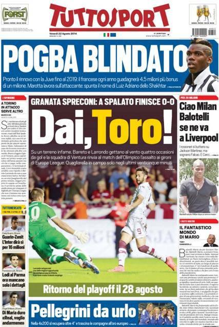 Tuttosport 22-08-2014