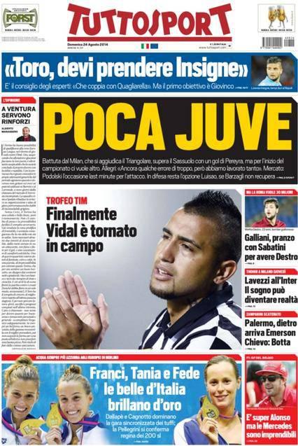 Tuttosport 24-08-2014