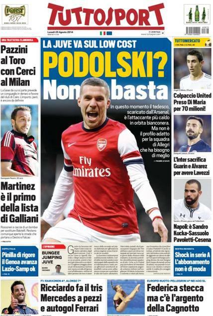 Tuttosport 25-08-2014