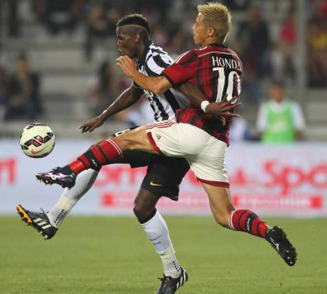 Honda & Pogba (Getty Images)