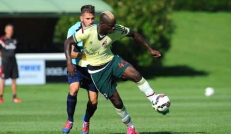 Mario Balotelli in allenamento