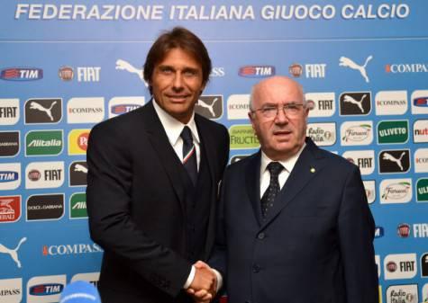Antonio Conte e Carlo Tavecchio (Getty Images)