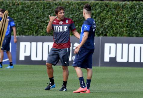 Antonio Conte e Stephan El Shaarawy (Getty Images)