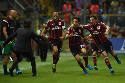 L'esultanza dopo il gol di Giacomo Bonavenura