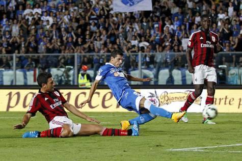 Manuel Pucciarelli in gol contro il Milan