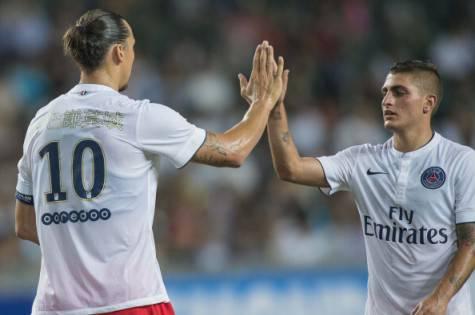 Zlatan Ibrahimovic & Marco Verratti (Getty Images)