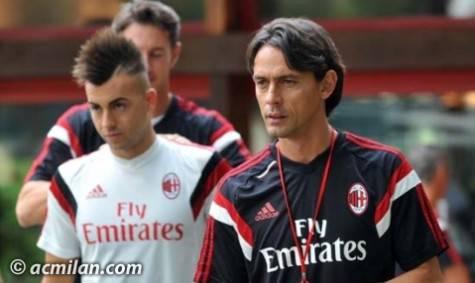 El Shaarawy & Inzaghi a Milanello