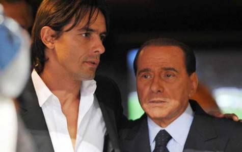 Inzaghi e Berlusconi (foto dal web)