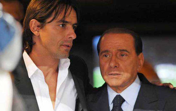Inzaghi e Berlusconi