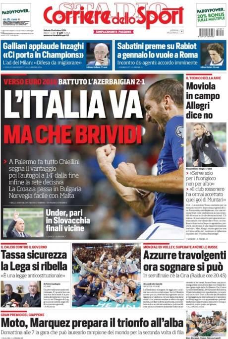 Corriere dello Sport 11-10-2014