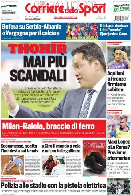 Corriere dello Sport 16-10-2014