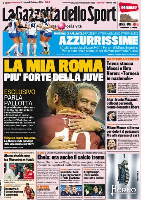 Gazzetta dello Sport 09-10-2014