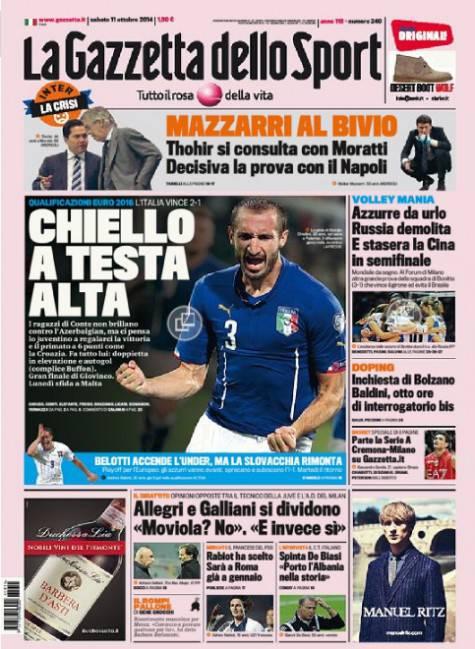 Gazzetta dello Sport 11-10-2014