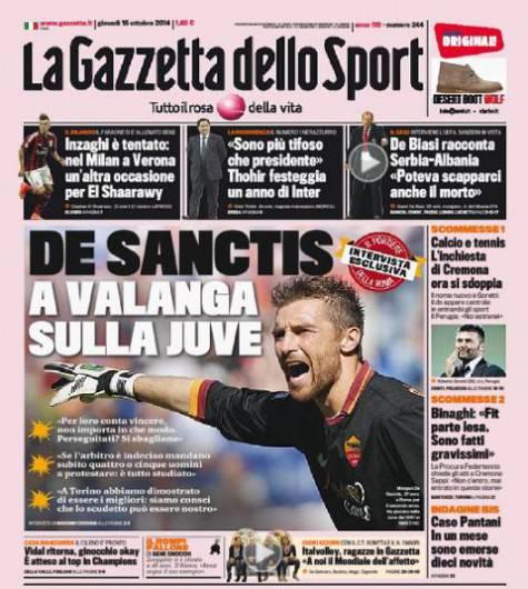 Gazzetta dello Sport 16-10-2014