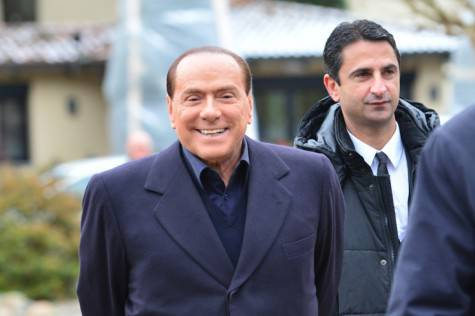 Berlusconi a Milanello (getty images)