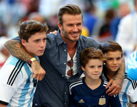 La famiglia Beckham (Getty Images)