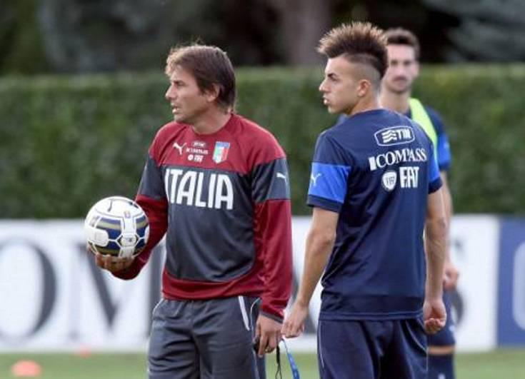 Antonio Conte & Stephan El Shaarawt (Getty Images)