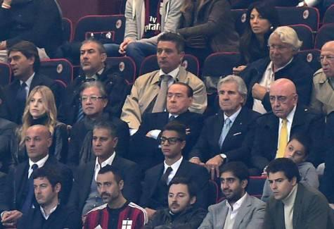 Silvio & Barbara Berlusconi con Richard Lee a San Siro