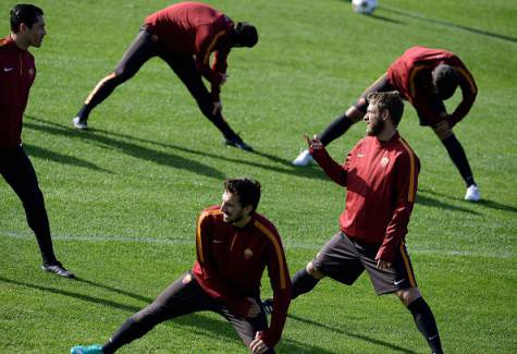L'allenamento dei giallorossi (Getty Images)