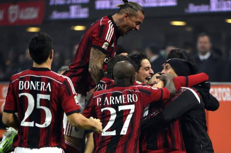 Il Milan esulta (getty images)
