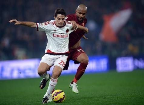 Giacomo Bonaventura vs Maicon (Getty Images)
