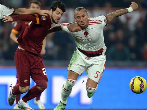 Mattia Destro e Philippe Mexes (Getty Images)