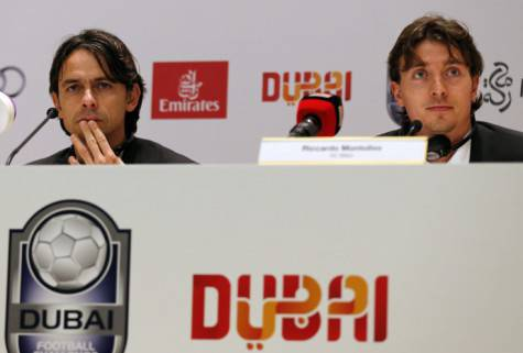 Inzaghi e Montolivo a Dubai (getty images)
