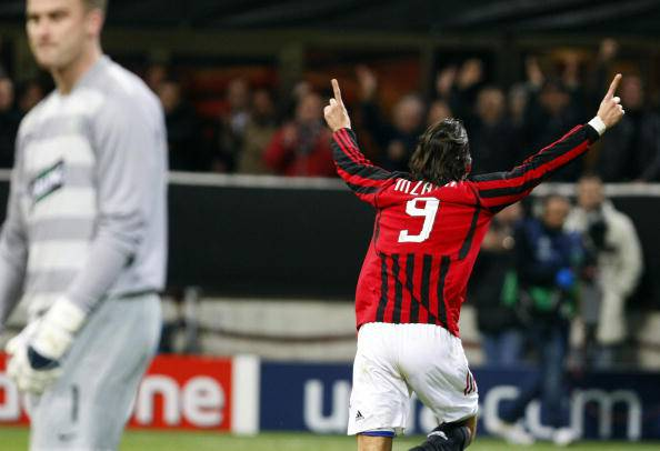Inzaghi in gol contro il Celtic (getty images)