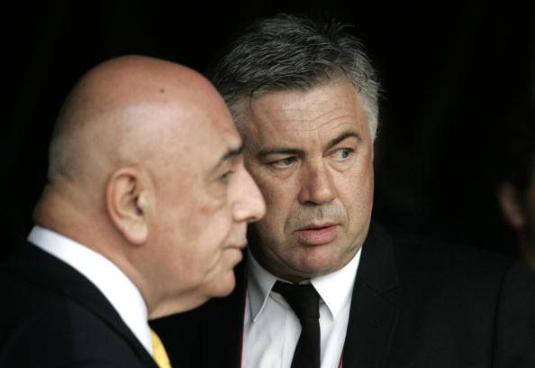 Galliani e Ancelotti (getty images)