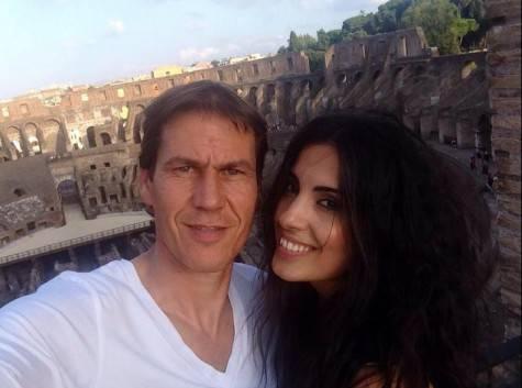 Rudi Garcia e Francesca Brienza (foto da Twitter)