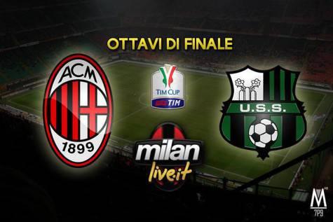 Coppa Italia, Milan-Sassuolo