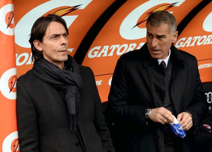 Filippo Inzaghi e Mauro Tassotti (getty images)