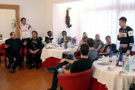 Berlusconi a Milanello (acmilan.com9
