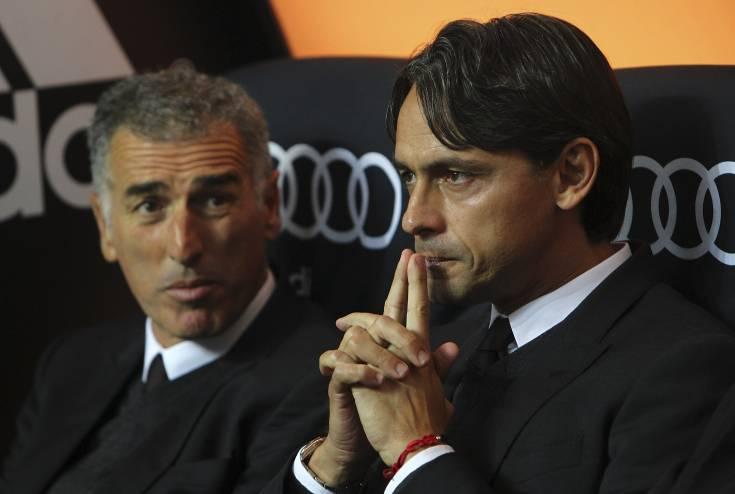 Mauro Tassotti e Filippo Inzaghi (Getty Images)