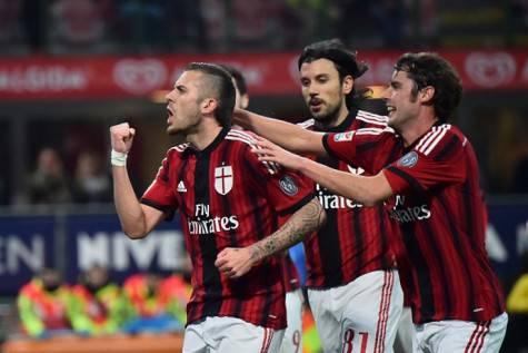 La gioia del Milan sul gol di Menez (Getty Images)