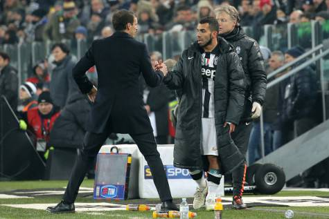 Massimiliano Allegri e Carlos Tevez (Getty Images)