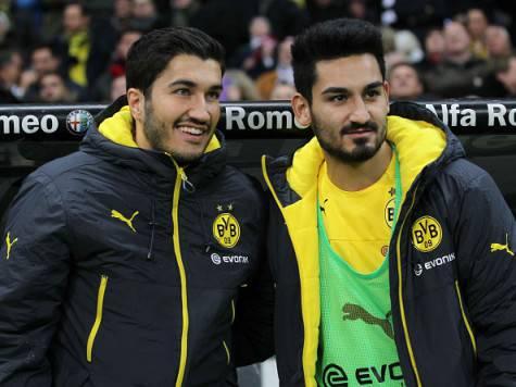 Nuri Sahin e Ilkay Gundogan (Getty Images)