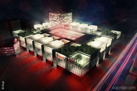 Il plastico dello stadio (foto acmilan.com)