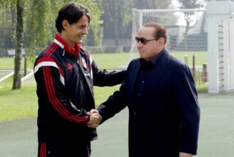 Filippo Inzaghi e Silvio Berlusconi (foto dal web)