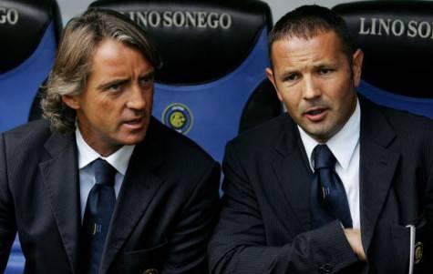 Mancini e Mihajlovic ai tempi dell'Inter (getty images)