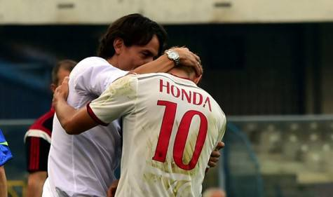 Inzaghi & Honda (Getty Images)
