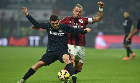 Duello tra Kovacic e Mexes (getty images)