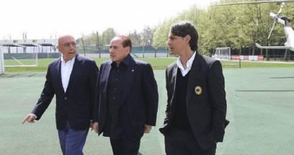 galliani, berlusconi, inzaghi