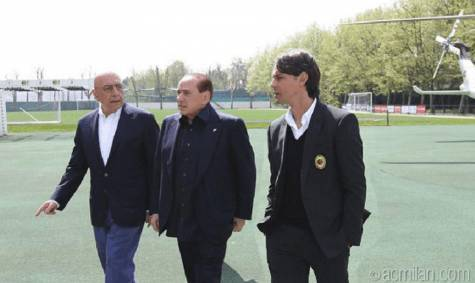 galliani, berlusconi, inzaghi
