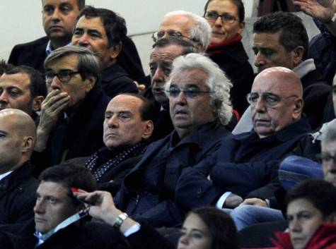 Silvio Berlusconi, Flavio Briatore e Adriano Galliani (Getty Images)