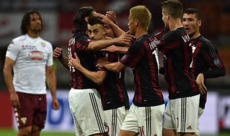 L'esultanza dei rossoneri dopo il gol di El Shaarawy (Getty Images)