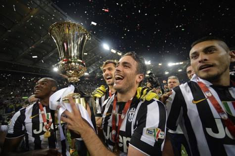 Alessandro Matri celebra la vittoria della Coppa Italia (Getty Images)