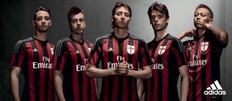 Maglia ufficiale Milan 2015/16 (Adidas.com)