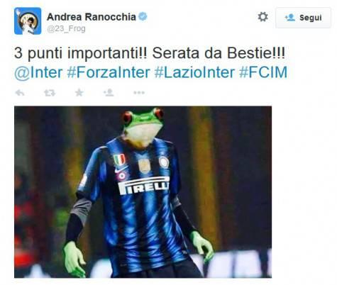 La replica di Ranocchia a Berlusconi su Twitter