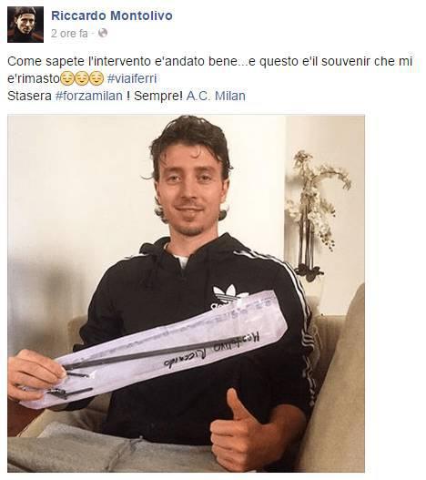 Dal profilo Facebook di Riccardo Montolivo